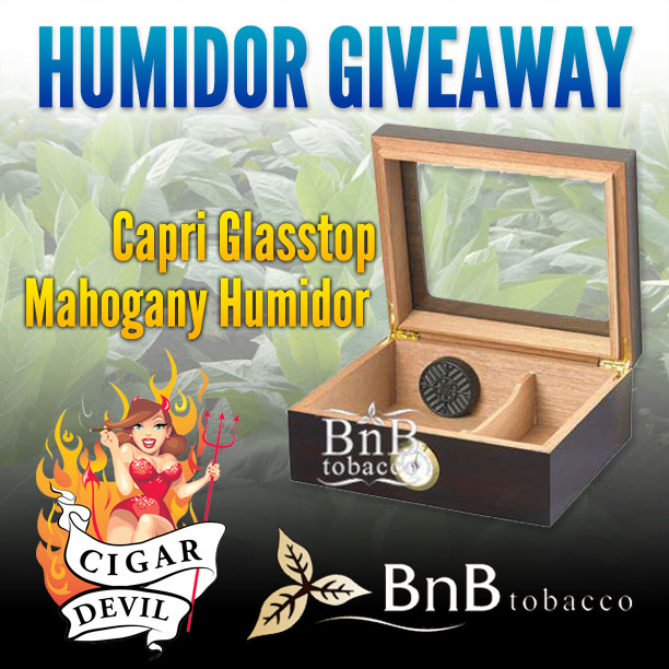 humidor giveaway from BnB Tobacco and CigarDevil